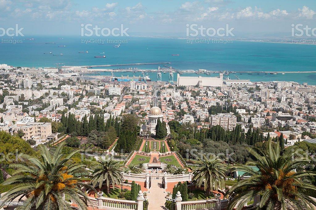 Haifa - Bahai Gardens stock photo
