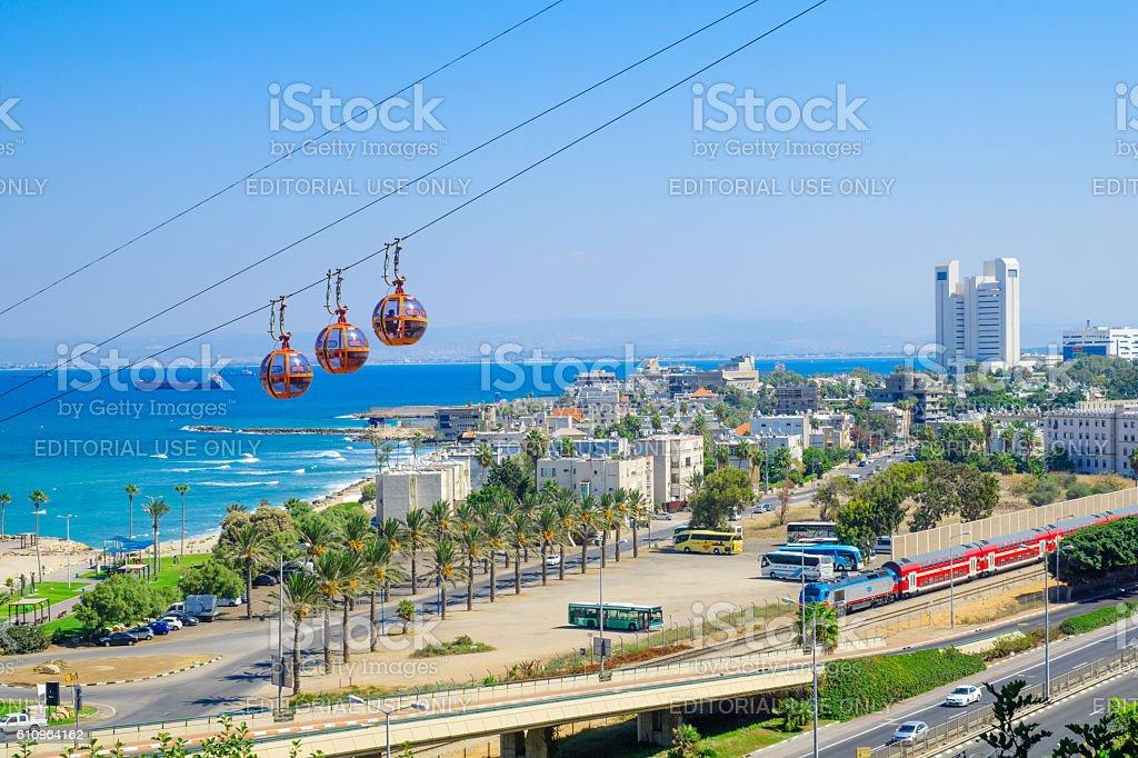 Haifa Cable Car stock photo
