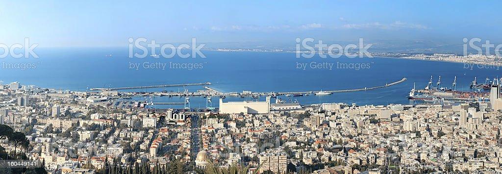 Haifa city. Israel stock photo