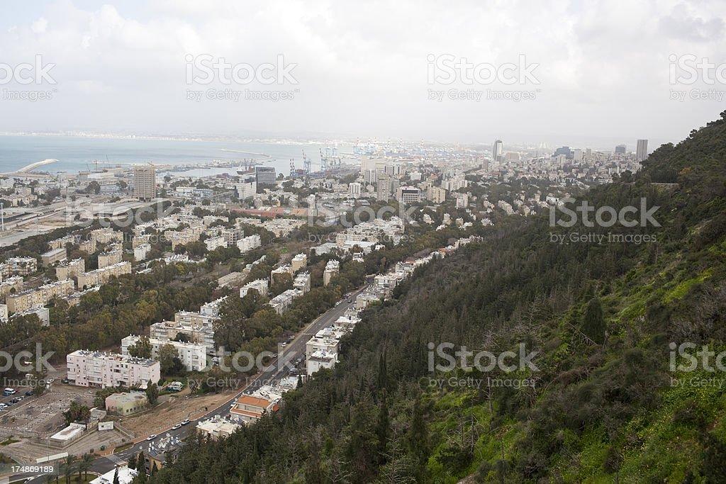 Haifa city. royalty-free stock photo