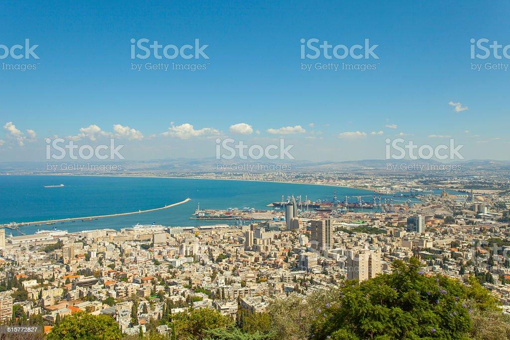 Haifa, Israel   Panoramic view stock photo