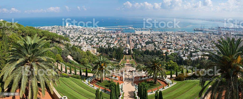 Haifa panorama stock photo
