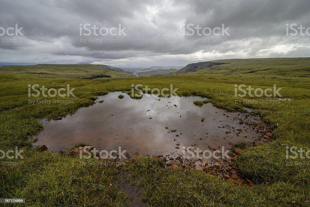 Haifoss landscape royalty-free stock photo