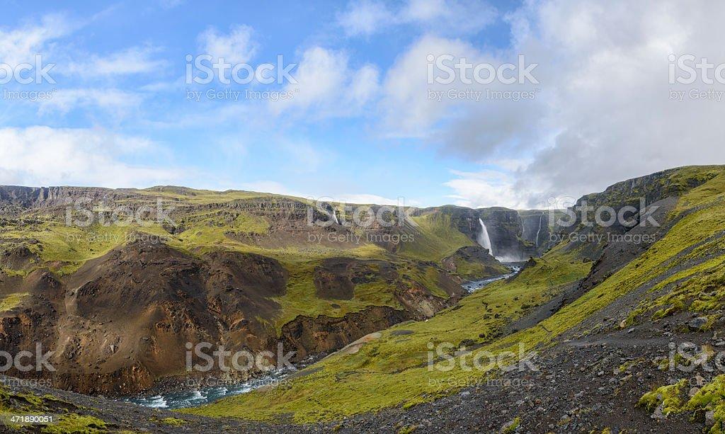Haifoss waterfall royalty-free stock photo