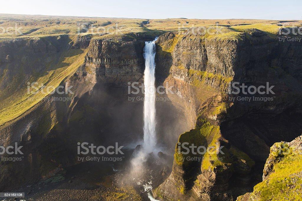 Haifoss waterfall stock photo