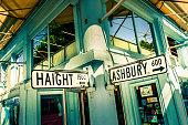 Haight Ashbury street sign in San Francisco, California, USA