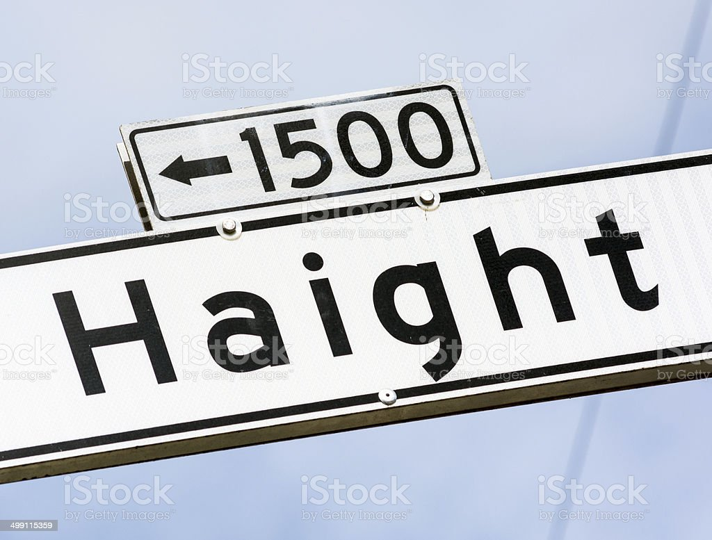 Haight street sign in San Francisco, CA royalty-free stock photo
