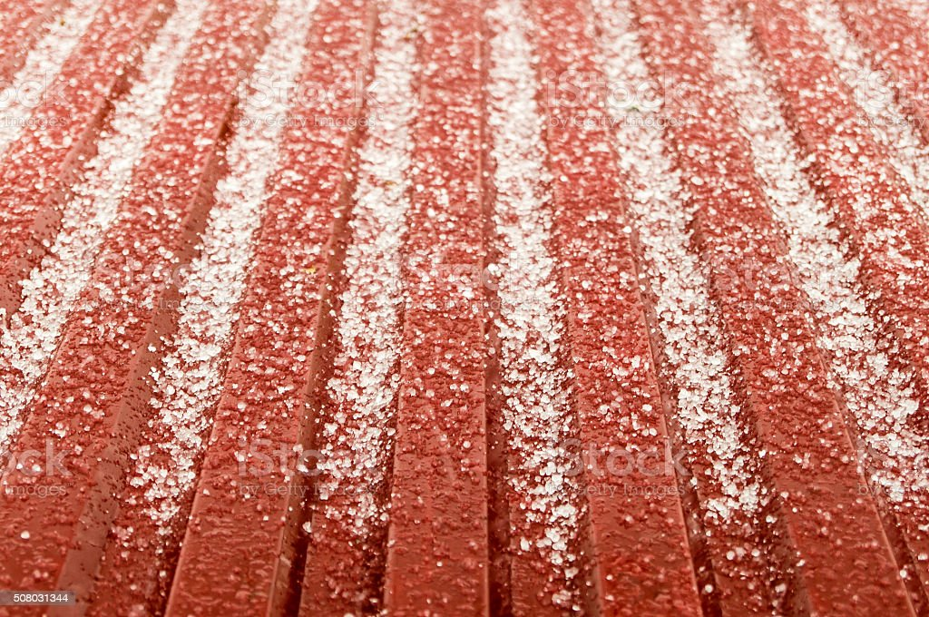 the hail corns have just smashed on the roof but instantly they start...