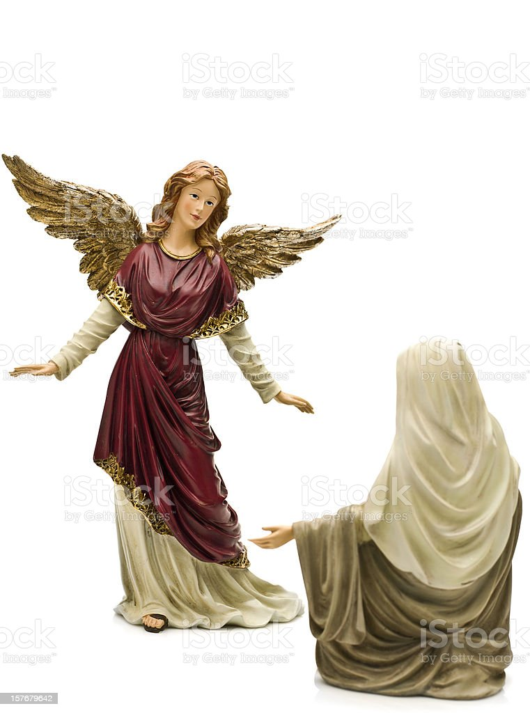 Hail Mary (Nativity Scene-Annunciation) stock photo