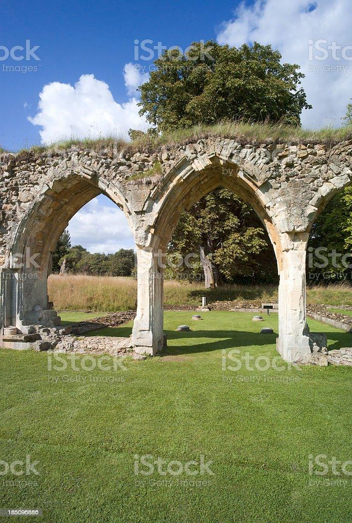 hailes abbey stock photo