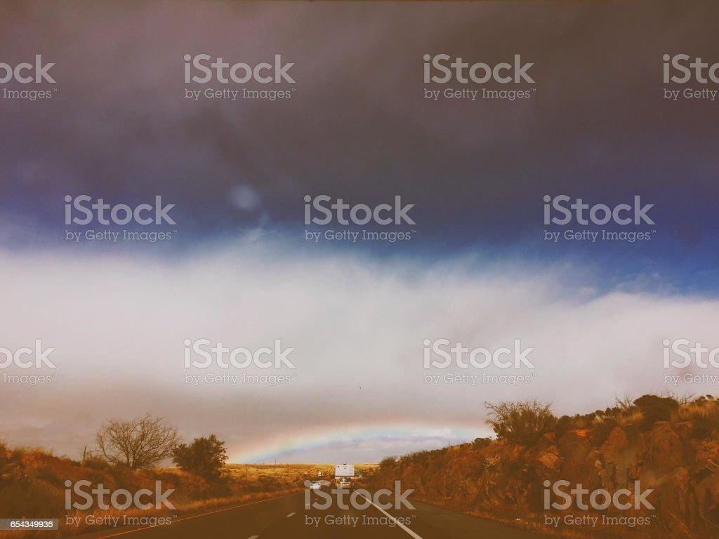 Hails Rainbow stock photo