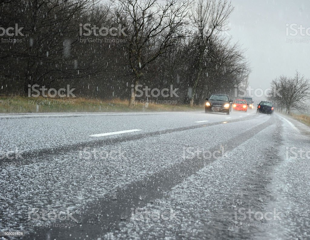 Hailstorm stock photo