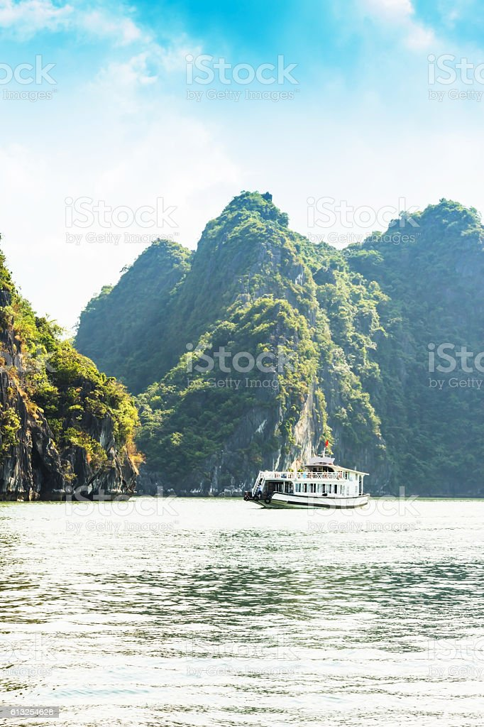 HAIPHONG,the southeastern edge of Ha Long Bay stock photo