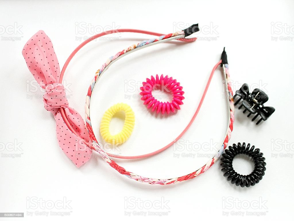 Hair accessories stock photo