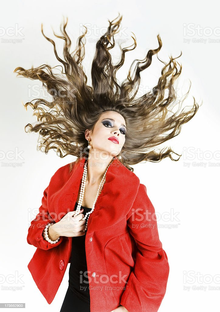 Hair and fashion royalty-free stock photo