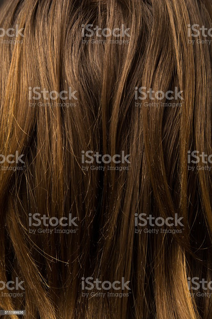 hair and head skin close up stock photo