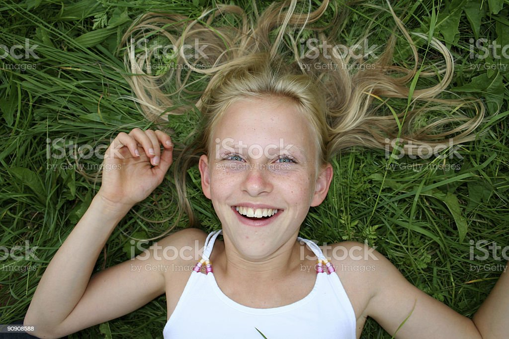 hair and smile royalty-free stock photo