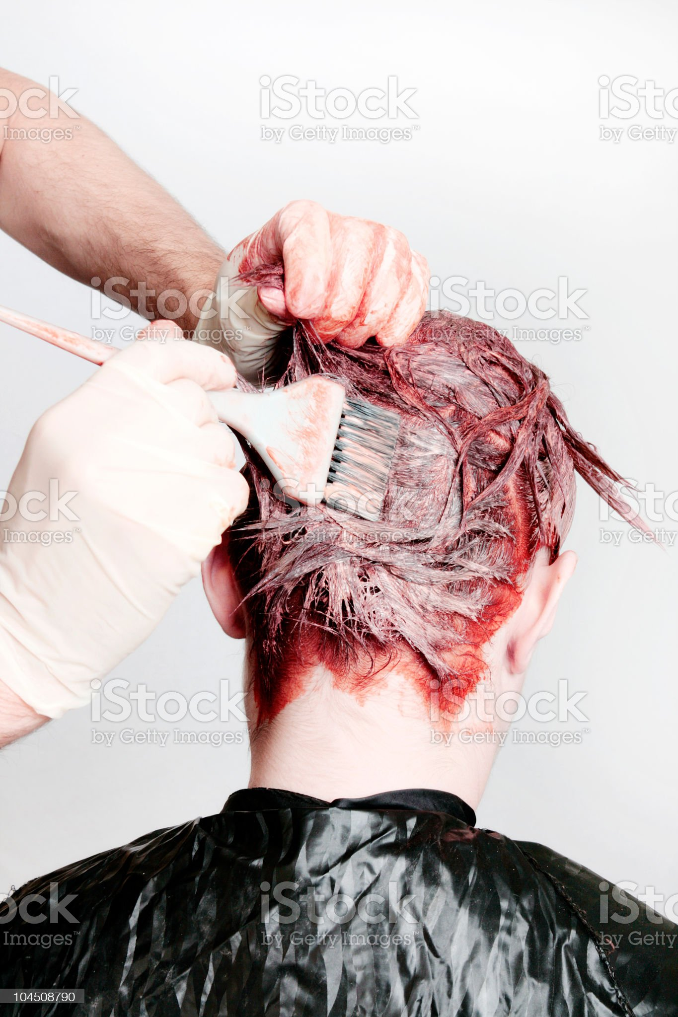 Hair Being Dyed royalty-free stock photo