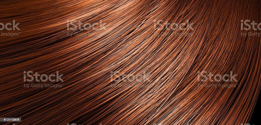 Hair Blowing Closeup stock photo