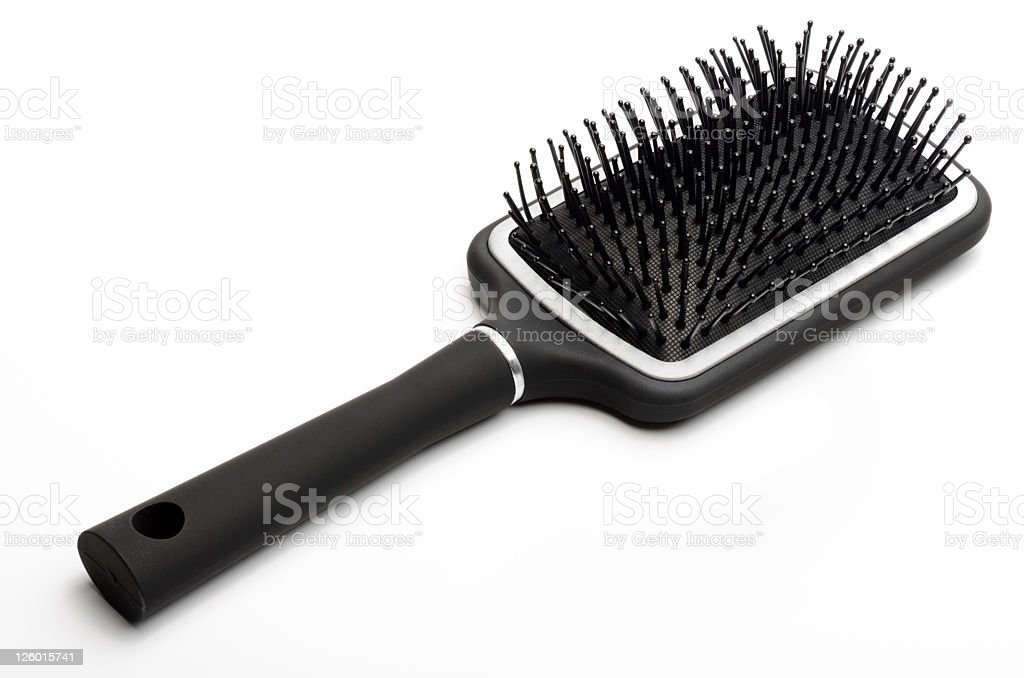 Hair brush stock photo