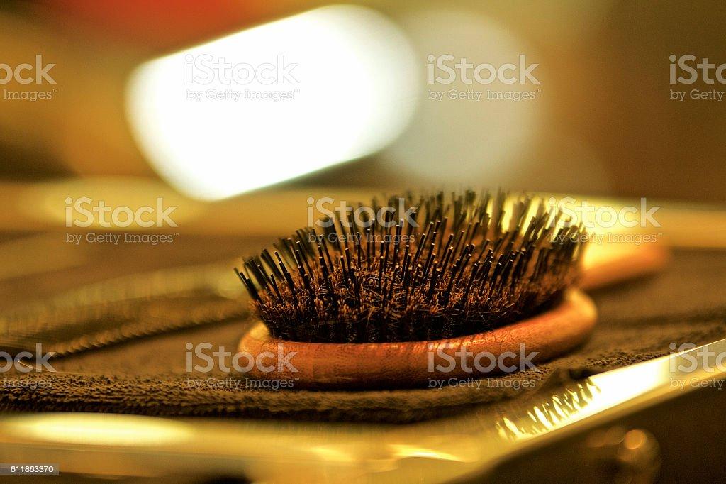 Hair Brush stock photo