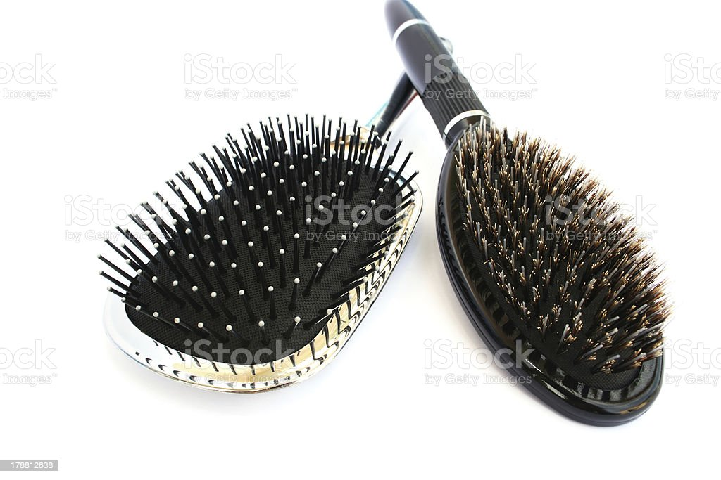 Hair brushes royalty-free stock photo