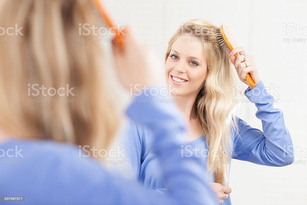 Hair care. stock photo