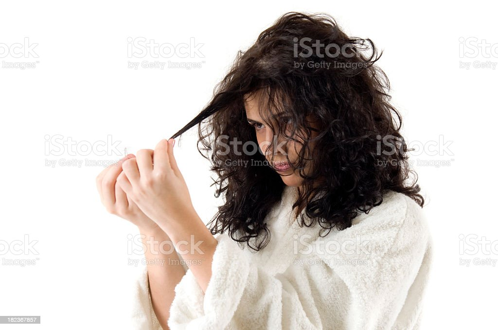 Hair care series royalty-free stock photo