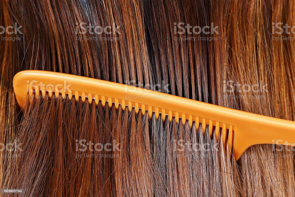 hair cleaning by comb for pattern and background stock photo