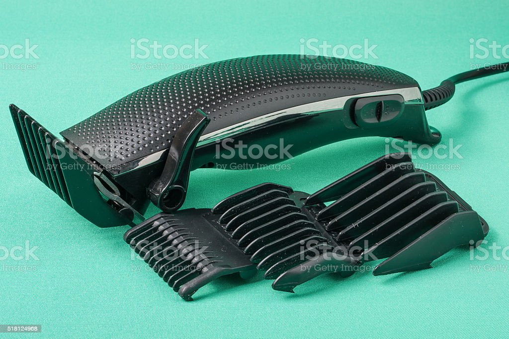 hair clipper isolated on white background stock photo