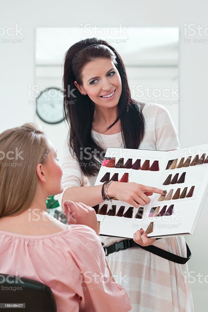 Hair color for you royalty-free stock photo