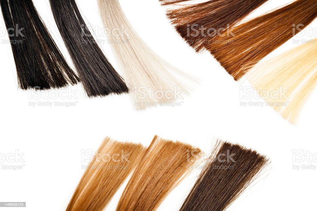 Hair color samples royalty-free stock photo