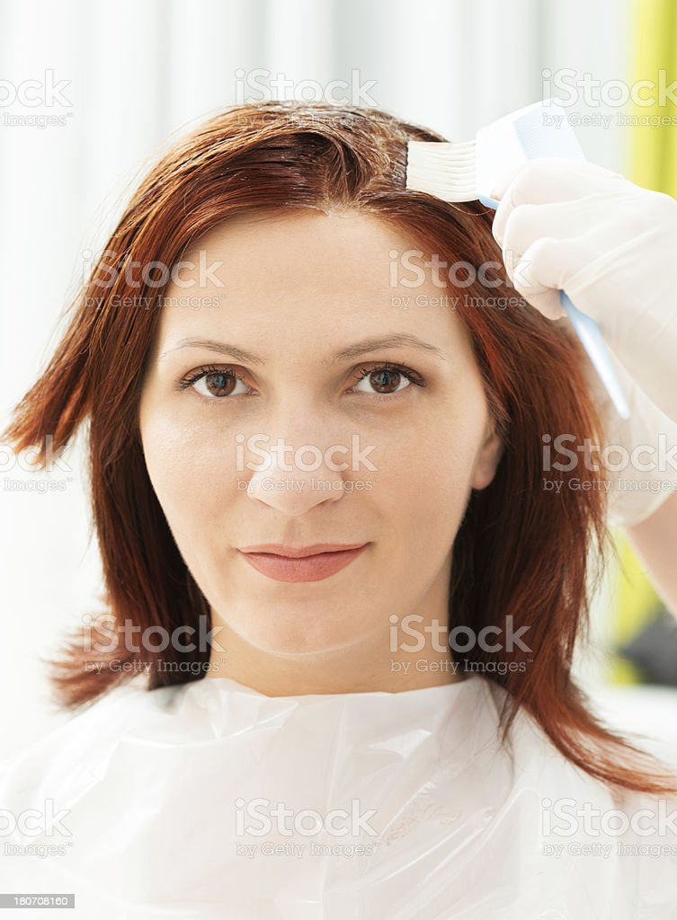 Hair Coloring royalty-free stock photo