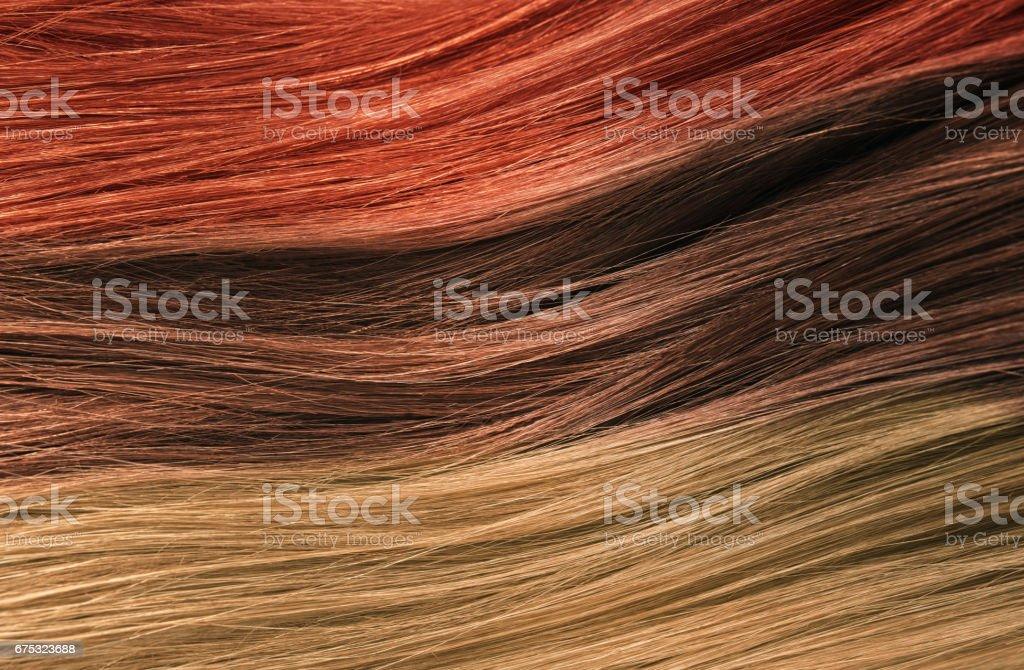 Hair Colors Palette. Hair Texture background, Hair colours set....