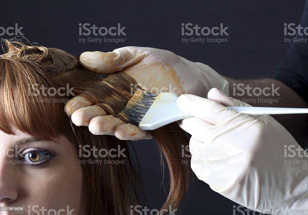 Hair Colour Application royalty-free stock photo