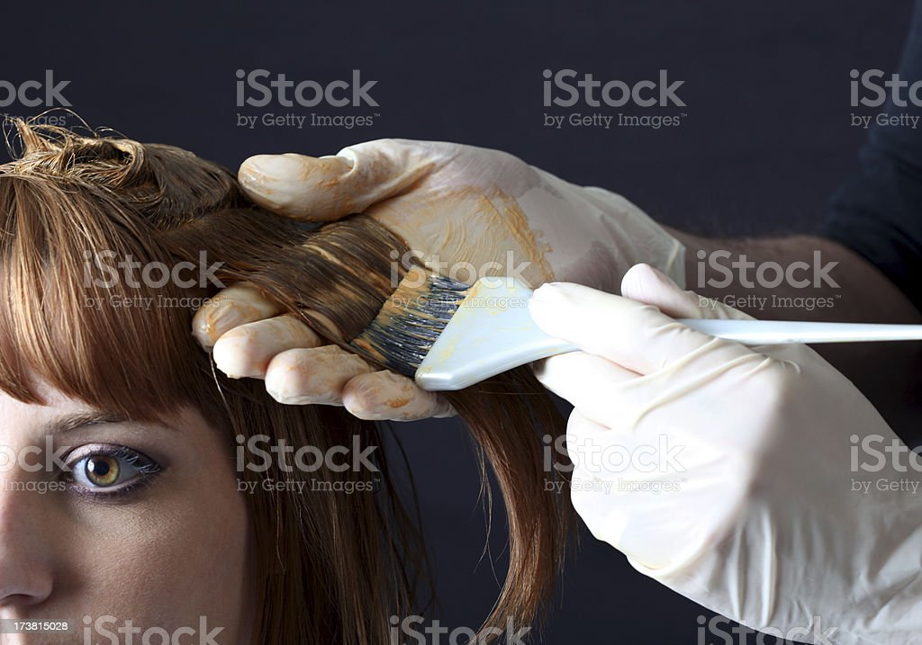 Hair Colour Application stock photo