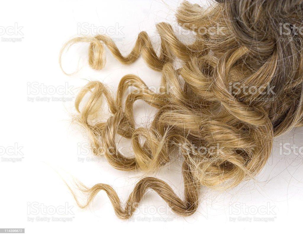 Hair Curls royalty-free stock photo