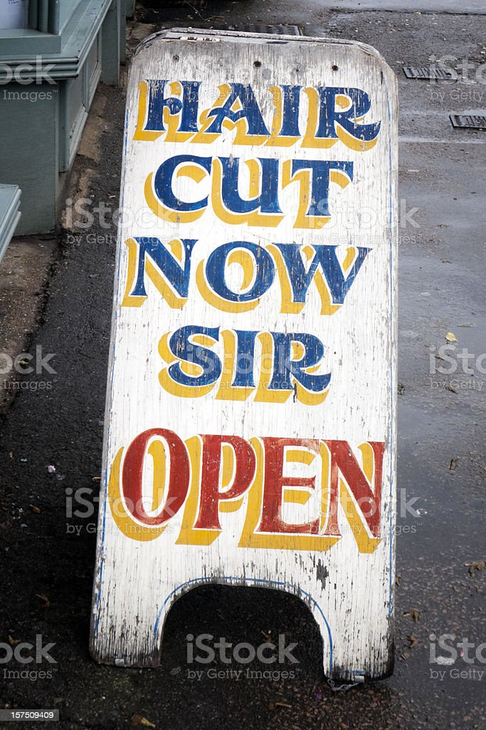 Hair cut now, Sir royalty-free stock photo