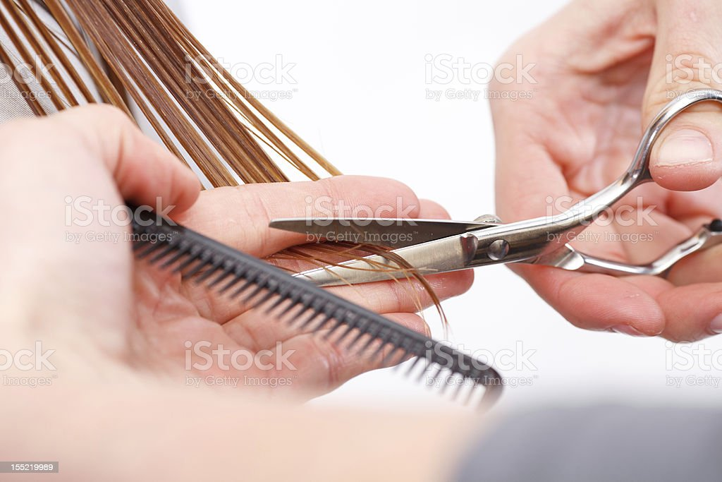 Hair cutting royalty-free stock photo