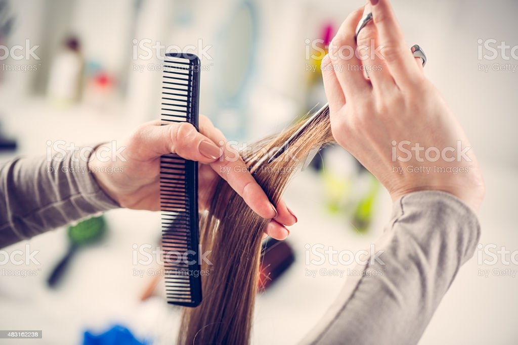 Hair Cutting stock photo