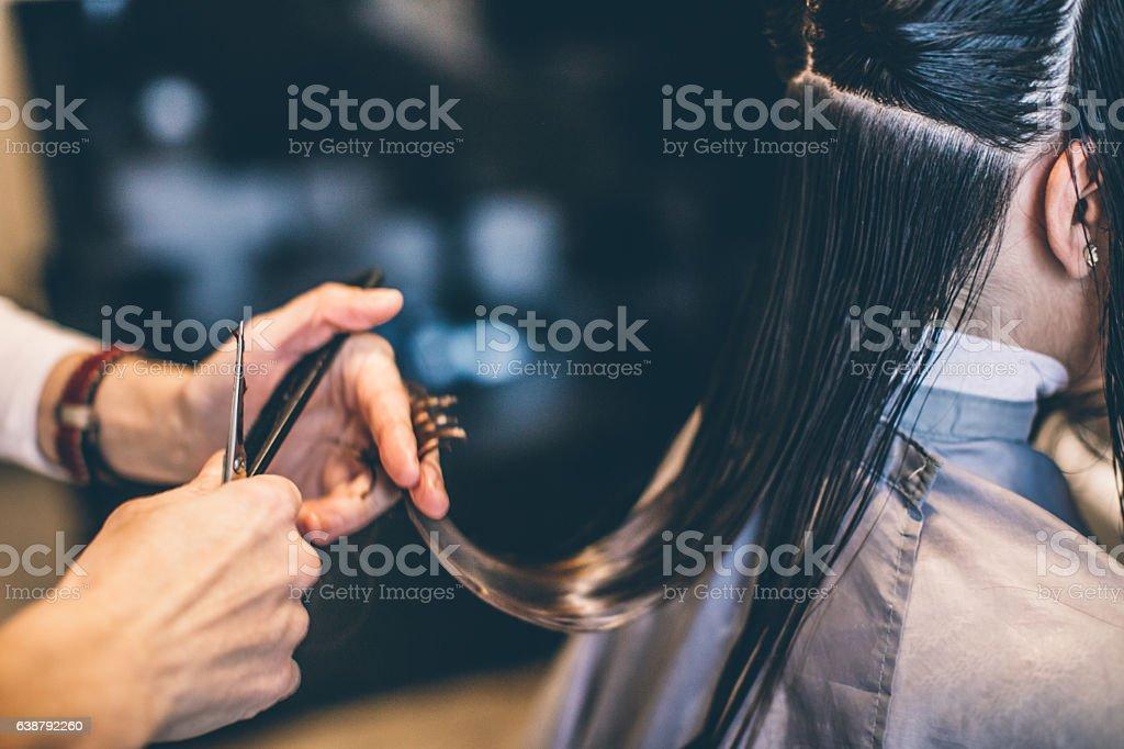 Hair cutting... stock photo
