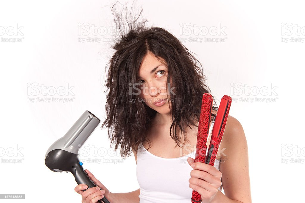 Hair Decisions royalty-free stock photo