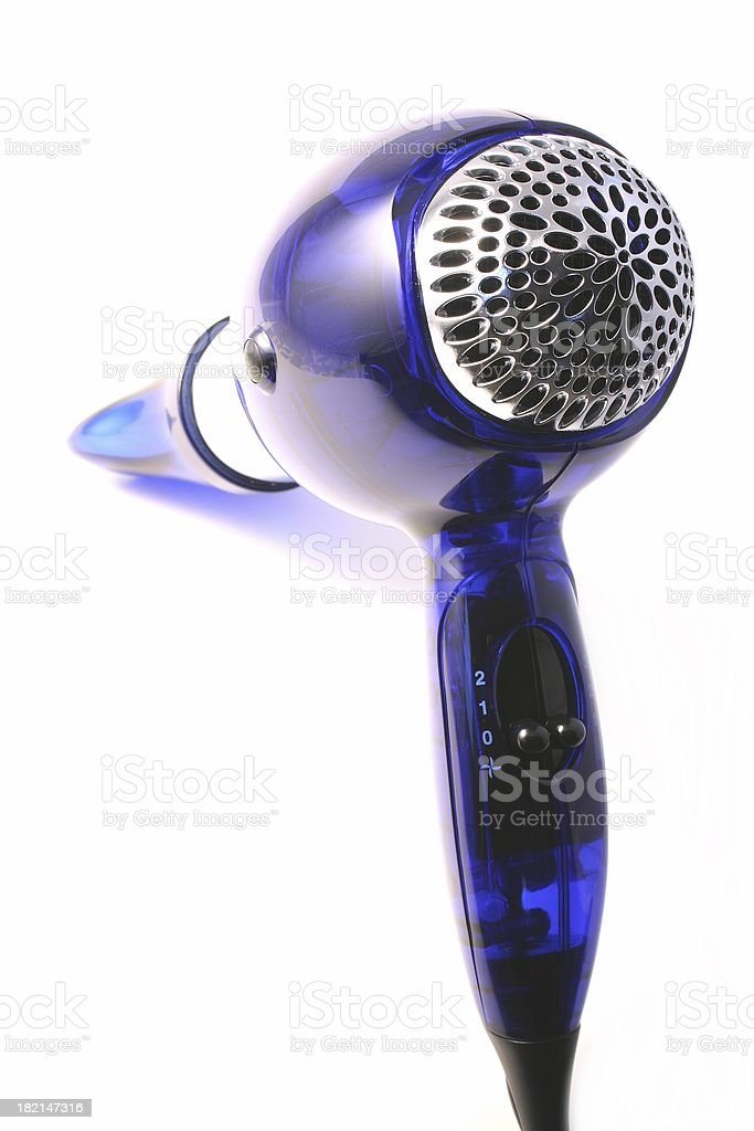 Hair dryer isolated royalty-free stock photo