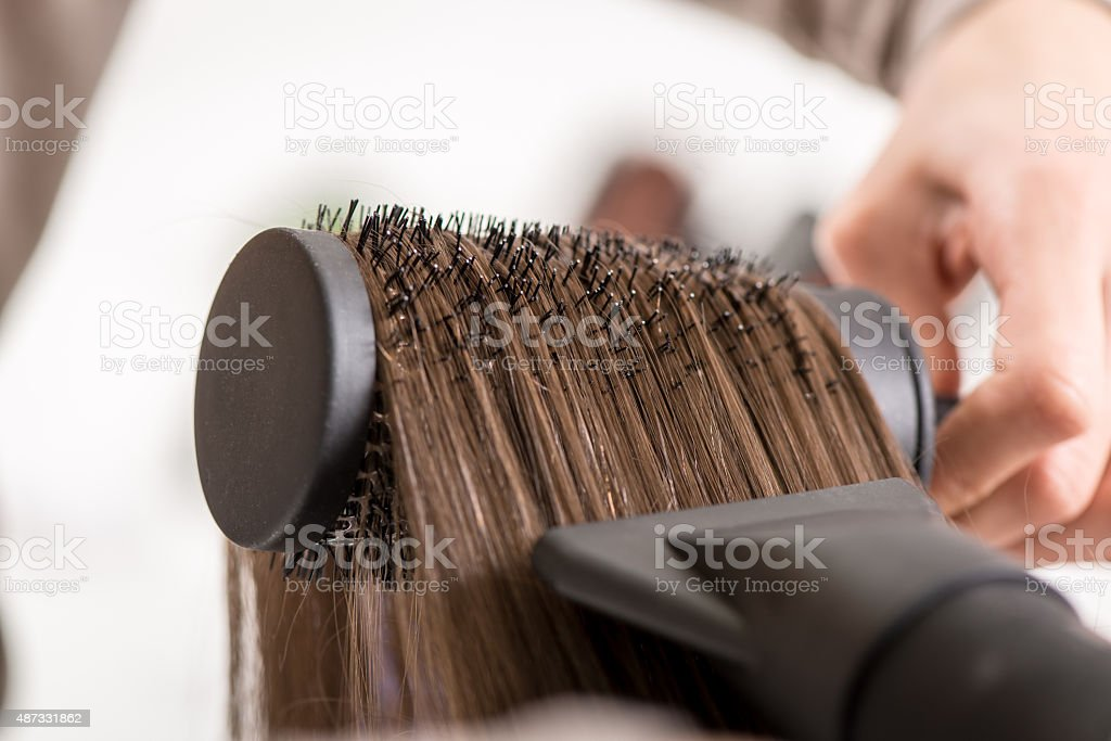 Hair Drying stock photo
