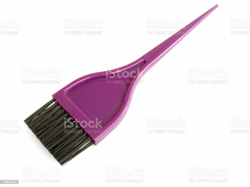 hair dye brush stock photo