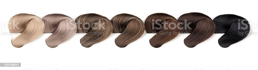 Hair Dye Color Swatches - Ash Tones royalty-free stock photo
