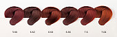 Hair Dye Color Swatches - Reds Tones