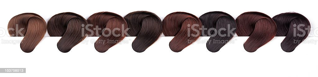 Hair Dye Color Swatches - Violet Tones royalty-free stock photo