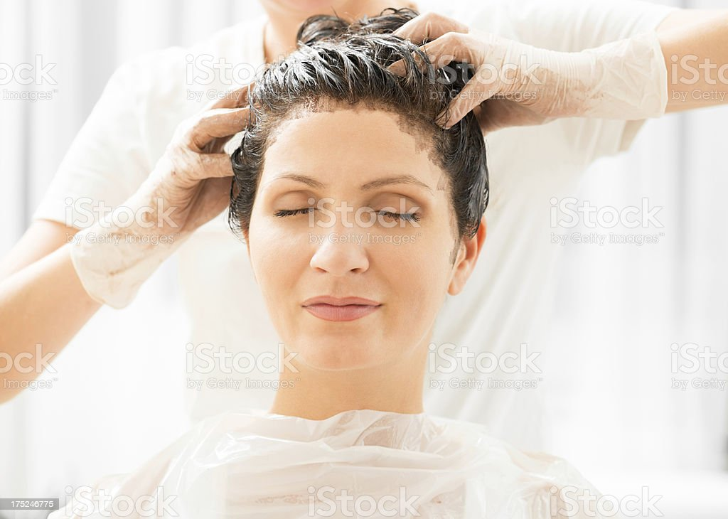 Hair dye royalty-free stock photo