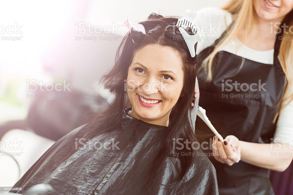 Hair dye stock photo
